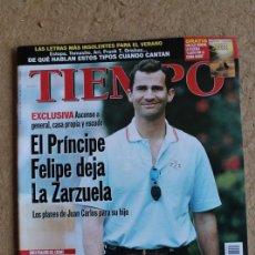 Coleccionismo de Revista Tiempo: REVISTA TIEMPO. Nº 901. 9 DE AGOSTO 1999. EL PRÍNCIPE FELIPE DEJA LA ZARZUELA.. Lote 120214111