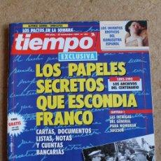 Coleccionismo de Revista Tiempo: REVISTA TIEMPO. Nº 551. 23 DE NOVIEMBRE 1992. LOS PAPELES SECRETOS QUE ESCONDÍA FRANCO.. Lote 120214163