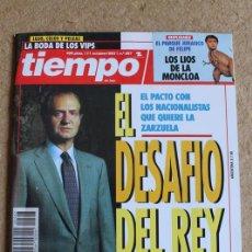 Coleccionismo de Revista Tiempo: REVISTA TIEMPO. Nº 597. 11 OCTUBRE 1993. EL DESAFÍO DEL REY.. Lote 120215419