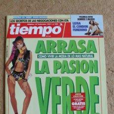 Colecionismo da Revista Tiempo: REVISTA TIEMPO. Nº 595. 27 SEPTIEMBRE 1993. ARRASA LA PASIÓN VERDE.. Lote 120215719