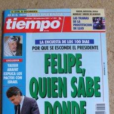 Coleccionismo de Revista Tiempo: REVISTA TIEMPO. Nº 594. 20 DE SEPTIEMBRE 1993. FELIPE, QUIÉN SABE DÓNDE.. Lote 120215783