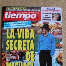 Coleccionismo de Revista Tiempo: REVISTA TIEMPO. Nº 592. 6 DE SEPTIEMBRE 1993. LA VIDA SECRETA DE MICHAEL JACKSON.. Lote 120216219
