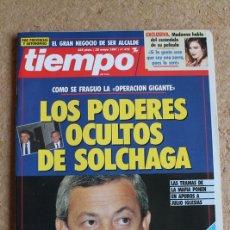 Coleccionismo de Revista Tiempo: REVISTA TIEMPO. Nº 472. 20 DE MAYO 1991. LOS PODERES OCULTOS DE SOLCHAGA. . Lote 120216279