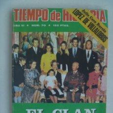 Coleccionismo de Revista Tiempo: TIEMPO DE HISTORIA , Nº 70, 1980 : EL CLAN DE LOS FRANCO, DESMITIFICACION REPUBLICA, CONGO, ETC. Lote 120232371