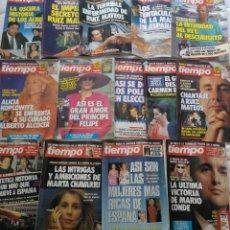 Coleccionismo de Revista Tiempo: 14 NÚMEROS REVISTA TIEMPO 1989.. Lote 120896363