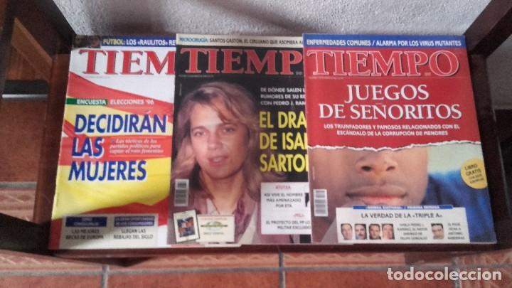 LOTE REVISTAS TIEMPO (Coleccionismo - Revistas y Periódicos Modernos (a partir de 1.940) - Revista Tiempo)