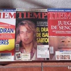 Coleccionismo de Revista Tiempo: LOTE REVISTAS TIEMPO. Lote 128536811