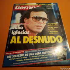 Coleccionismo de Revista Tiempo: REVISTA TIEMPO, N° 262, JULIO IGLESIAS AL DESNUDO, MAYO 1987.. Lote 132053535
