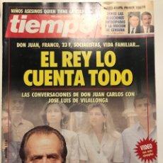 """Coleccionismo de Revista Tiempo: REVISTA TIEMPO DE 1993 """"EL REY LO CUENTA TODO"""". Lote 132242927"""