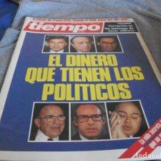 Coleccionismo de Revista Tiempo: TIEMPO EL DINERO QUE TIENEN LOS POLITICOS FEBRERO 1985. Lote 132590090