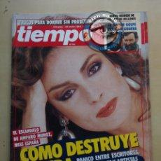 Coleccionismo de Revista Tiempo: TIEMPO 1990 ~ AMPARO MUÑOZ ~ VICTORIA ABRIL ~ ALFONSO GUERRA ~ DISCOTECA FLYNG ZARAGOZA. Lote 173076014