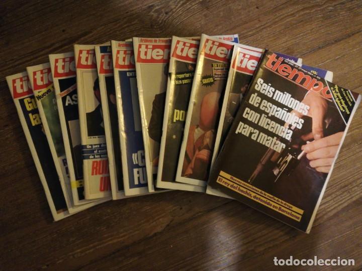 LOTE DE 11 REVISTAS TIEMPO (Coleccionismo - Revistas y Periódicos Modernos (a partir de 1.940) - Revista Tiempo)