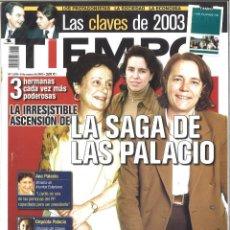 Coleccionismo de Revista Tiempo: TIEMPO. 1079. ENERO 2003. LA SAGA DE LAS PALACIO. Lote 133870078