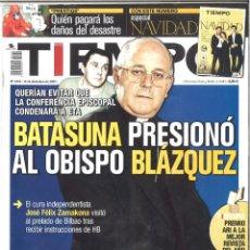 Coleccionismo de Revista Tiempo: TIEMPO. 1076. DICIEMBRE 2002. BATASUNA PRESIONÓ AL OBISPO BLÁZQUEZ. Lote 133870126