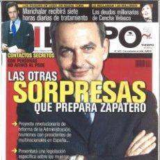 Coleccionismo de Revista Tiempo: TIEMPO. 1070. NOVIEMBRE 2002. LAS OTRAS SORPRESAS QUE PREPARA ZAPATERO. Lote 133870142