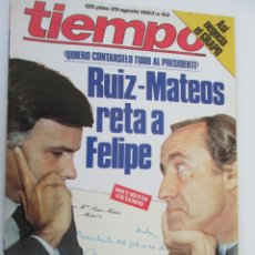 Coleccionismo de Revista Tiempo: REVISTA TIEMPO Nº 68 AGOSTO 1983 - RUIZ- MATEO RETA A FELIPE. . Lote 134041566