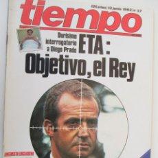 Coleccionismo de Revista Tiempo: REVISTA TIEMPO Nº 57 JUNIO 1983 - ETA: OBJETIVO, EL REY . Lote 134041842