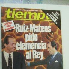 Coleccionismo de Revista Tiempo: REVISTA TIEMPO Nº 70 SEPTIEMBRE 1983 - RUIZ-MATEO PIDE CLEMENCIA AL REY. Lote 134041934