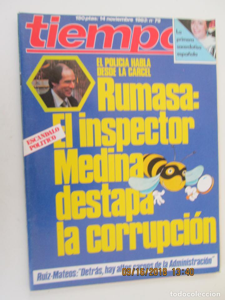 REVISTA TIEMPO Nº 79 NOVIEMBRE 1983 - RUMASA: EL INSPECTOR MEDINA DESTAPA LA CORRUPCIÓN (Coleccionismo - Revistas y Periódicos Modernos (a partir de 1.940) - Revista Tiempo)