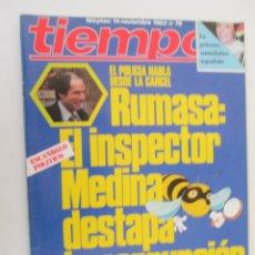 Coleccionismo de Revista Tiempo: REVISTA TIEMPO Nº 79 NOVIEMBRE 1983 - RUMASA: EL INSPECTOR MEDINA DESTAPA LA CORRUPCIÓN. Lote 134043438