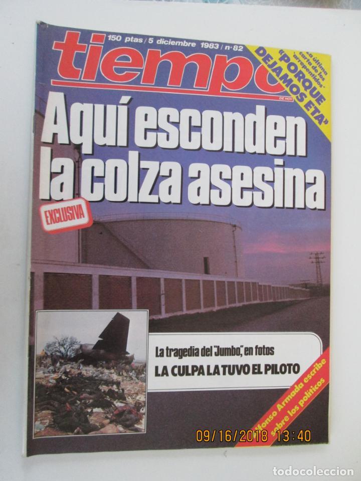 REVISTA TIEMPO Nº 82 DICIEMBRE 1983 - AQUI ESCONDEN LA COLZA ASESINA (Coleccionismo - Revistas y Periódicos Modernos (a partir de 1.940) - Revista Tiempo)