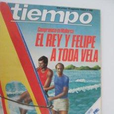 Coleccionismo de Revista Tiempo: REVISTA TIEMPO Nº 66 AGOSTO 1983 - EL REY Y FELIPE A TODA VELA. Lote 134043670