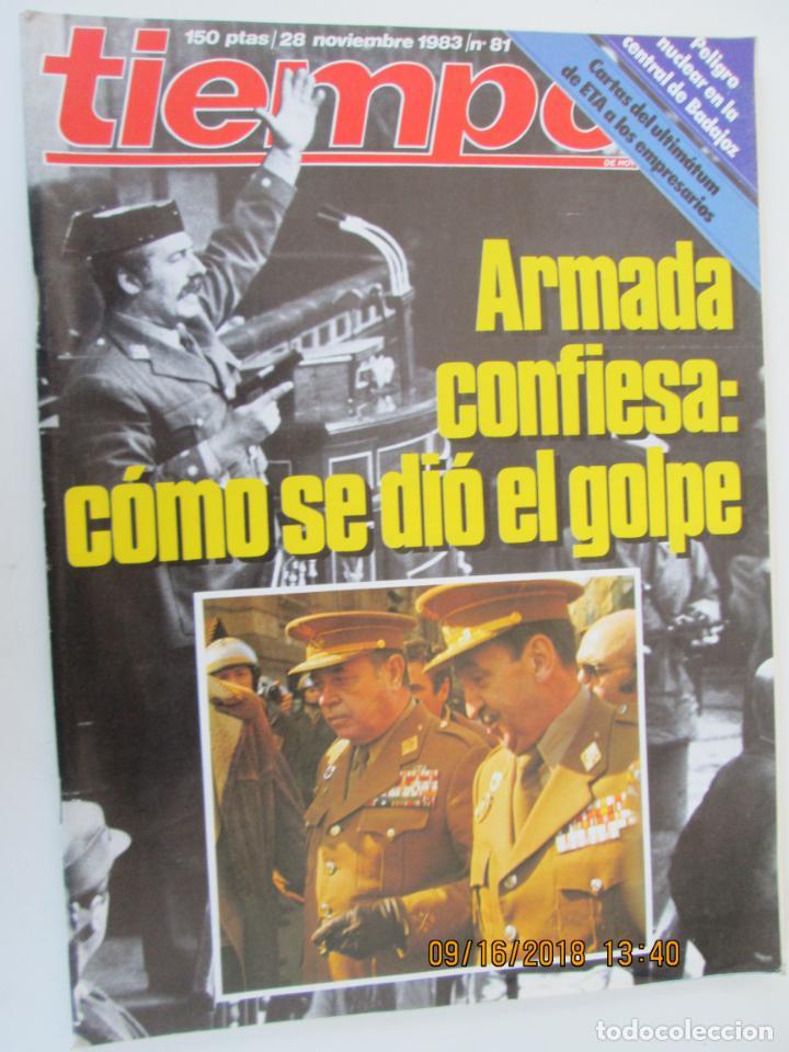 REVISTA TIEMPO Nº 81 NOVIEMBRE 1983 - ARMADA CONFIESA: CÓMO SE DIO EL GOLPE (Coleccionismo - Revistas y Periódicos Modernos (a partir de 1.940) - Revista Tiempo)