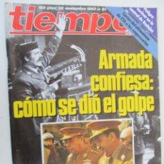 Coleccionismo de Revista Tiempo: REVISTA TIEMPO Nº 81 NOVIEMBRE 1983 - ARMADA CONFIESA: CÓMO SE DIO EL GOLPE. Lote 134043894