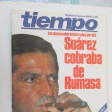 Coleccionismo de Revista Tiempo: REVISTA TIEMPO Nº 65 AGOSTO 1983 - SUÁREZ COBRABA DE RUMASA. Lote 134043994