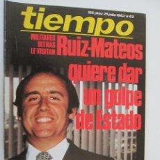 Coleccionismo de Revista Tiempo: REVISTA TIEMPO Nº 63 JULIO 1983 - RUIZ-MATEO QUIERE DAR UN GOLPE DE ESTADO. Lote 134044138