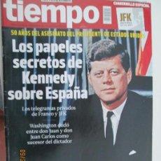 Coleccionismo de Revista Tiempo: REVISTA TIEMPO Nº 1626 NOVIEMBRE 2013 - LOS PAPELES SECRETOS DE KENNEDY SOBRE ESPAÑA. Lote 134415294