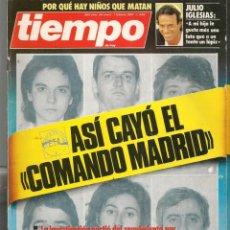 Coleccionismo de Revista Tiempo: REVISTA TIEMPO. Nº 246. ASÍ CAYÓ EL COMANDO MADRID / JULIO IGLESIAS. 26 ENERO 1987. (P/B78). Lote 134827338