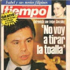 Coleccionismo de Revista Tiempo: REVISTA TIEMPO. Nº 200. FELIPE GONZÁLEZ. / ISABEL PREYSLER Y SUS NOVIOS FILIPINOS. 10/3/1986(P/B78). Lote 134828178