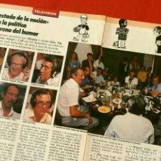 Coleccionismo de Revista Tiempo: EL ESTADO DE LA NACION - LUIS DEL OLMO - CADENA COPE - HOJAS REPORTAJE REVISTA TIEMPO (29 SET 1986). Lote 135629531