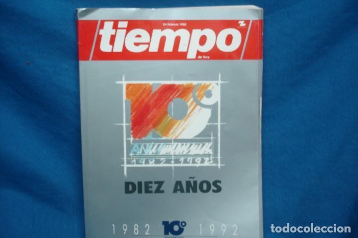 TIEMPO DIEZ AÑOS 1982/ 1992 - 10º ANIVERSARIO (Coleccionismo - Revistas y Periódicos Modernos (a partir de 1.940) - Revista Tiempo)