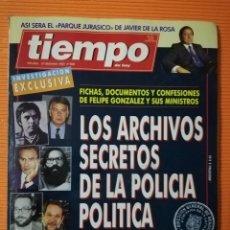 Coleccionismo de Revista Tiempo: TIEMPO DE HOY Nº 608. LOS ARCHIVOS SECRETOS DE LA POLICÍA POLÍTICA DE FRANCO. DICIEMBRE 1993. Lote 142273950