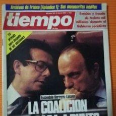 Coleccionismo de Revista Tiempo: TIEMPO DE HOY Nº 150. LA COALICIÓN DE FRAGA A PUNTO DE ESTALLAR.ESCÁNDALO HERRERO-LASUÉN. MARZO 1985. Lote 142358470