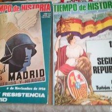 Coleccionismo de Revista Tiempo: 2 REVISTAS TIEMPO DE HISTORIA. Lote 142427152