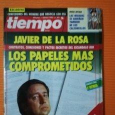 Coleccionismo de Revista Tiempo: TIEMPO DE HOY Nº 561. JAVIER DE LA ROSA: LOS PAPELES MÁS COMPROMETIDOS. 1993. Lote 142473450
