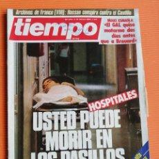Coleccionismo de Revista Tiempo: TIEMPO DE HOY Nº 143. HOSPITALES, USTED PUEDE MORIR EN LOS PASILLOS./ESTAFAS ALTA BURGUESÍA CATALANA. Lote 142557466
