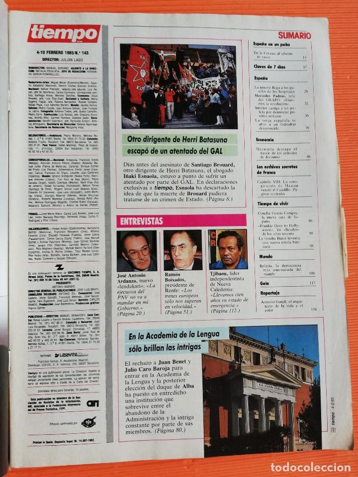 Coleccionismo de Revista Tiempo: TIEMPO DE HOY Nº 143. HOSPITALES, USTED PUEDE MORIR EN LOS PASILLOS./ESTAFAS ALTA BURGUESÍA CATALANA - Foto 2 - 142557466