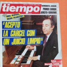 Coleccionismo de Revista Tiempo: TIEMPO DE HOY Nº 152. RUIZ MATEOS: ACEPTO LA CÁRCEL CON UN JUICIO LIMPIO. 1985. Lote 142558238