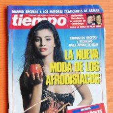 Coleccionismo de Revista Tiempo: TIEMPO DE HOY Nº 347. LA NUEVA MODA DE LOS AFRODISÍACOS. MADRID ENCUBRE TRAFICANTES ARMAS. Lote 142558870