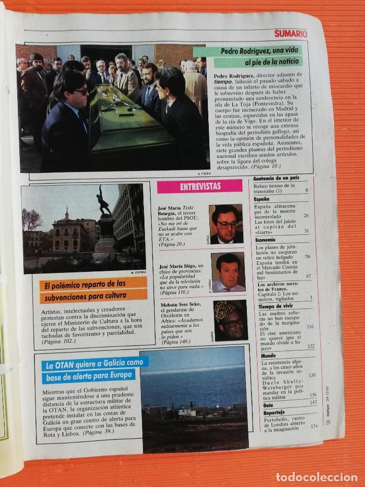 Coleccionismo de Revista Tiempo: TIEMPO DE HOY Nº 137. EL GAS DE LA MUERTE AMENAZA A ESPAÑA - Foto 2 - 142562146