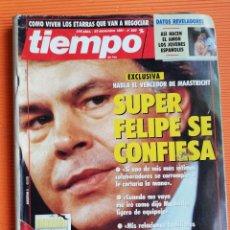 Coleccionismo de Revista Tiempo: TIEMPO DE HOY Nº 503. EL VENCEDOR DE MAASTRICHT:SUPER FELIPE SE CONFIESA/ ESPECIAL DINOSAURIOS. Lote 142562522