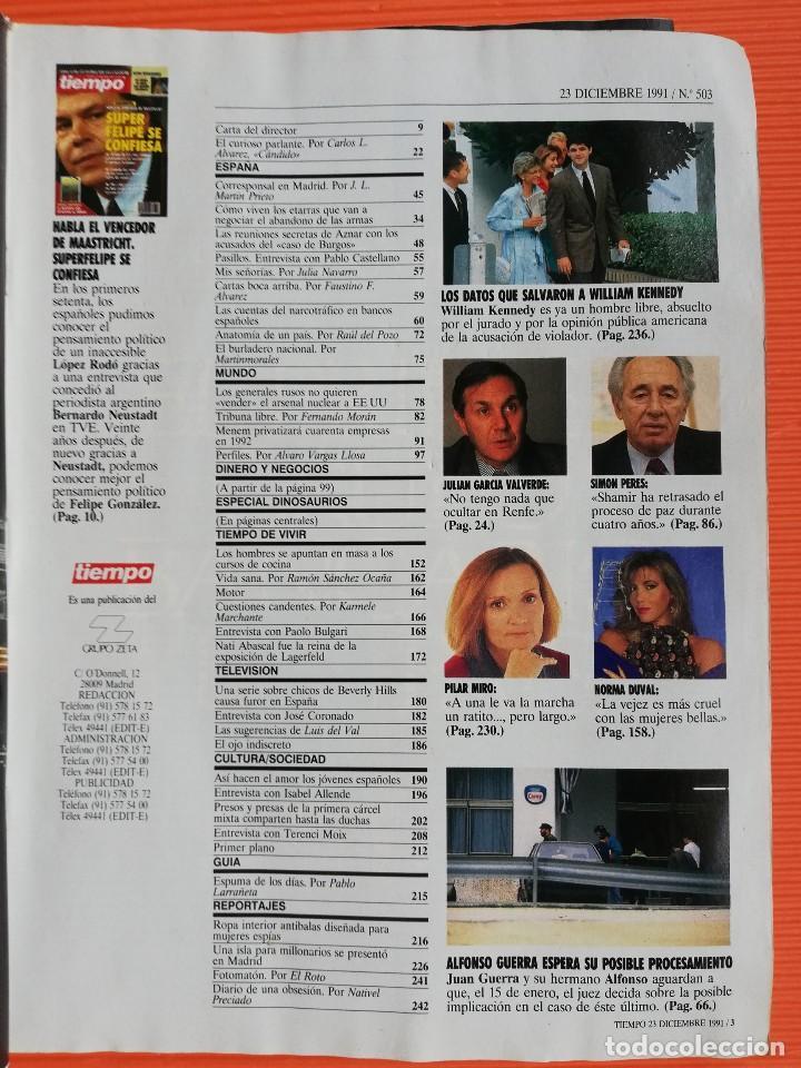 Coleccionismo de Revista Tiempo: TIEMPO DE HOY Nº 503. EL VENCEDOR DE MAASTRICHT:SUPER FELIPE SE CONFIESA/ ESPECIAL DINOSAURIOS - Foto 2 - 142562522