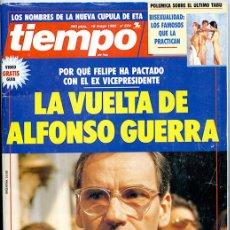 Coleccionismo de Revista Tiempo: TIEMPO. 18 MAYO 1992. Nº 524. 194 PÁGINAS. 'LA VUELTA DE ALFONSO GUERRA'. Lote 142898402
