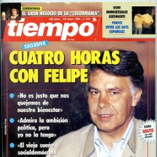 Coleccionismo de Revista Tiempo: TIEMPO. 25 MAYO 1992. Nº 525. 204 PÁGINAS. 'CUATRO HORAS CON FELIPE'. Lote 142898898