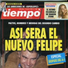 Coleccionismo de Revista Tiempo: FELIPE GONZALEZ-SHARON STONE ENTREVISTA-ISABEL ALLENDE ENTREVISTA VER IMAGEN SUMARIO JUNIO DE 1993. Lote 142985798