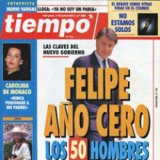 Coleccionismo de Revista Tiempo: FELIPE GONZALEZ - CAROLINA DE MONACO - ISABEL SARTORIUS - VER IMAGEN SUMARIO JULIO DE 1993 . Lote 142986814